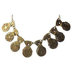 Antique watch-cock necklace