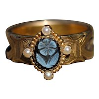 Victorian mourning ring, hallmarked