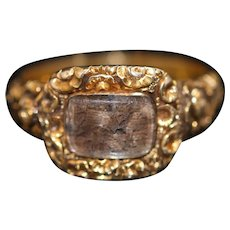 Georgian 18k gold mourning ring