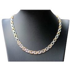 Vintage 18k yellow and white gold necklace