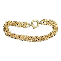 Vintage 18k gold Byzantine link bracelet