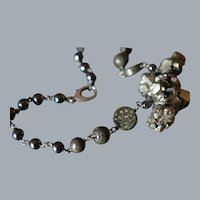 Harmonizing Pyrite and Hematite Necklace with Titanium