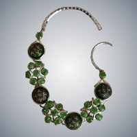 Venetian Glass Fantasy Cabochon Necklace : Circa 1960's