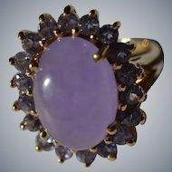 Lavender Jade Ring in 14 karat Gold