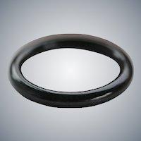 Black Jade Bangle Bracelet  60 mm