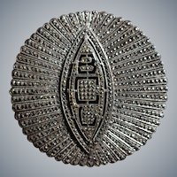 Handcrafted Sterling and Marcasite Monogram Brooch: Circa 1941  BLC
