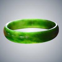 Gem Quality Natural Jade Bangle Bracelet : Apple Green 65 mm x 15 mm