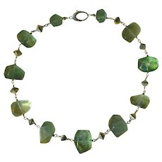 Gem Quality Fluorite  Necklace with Sterling Silver