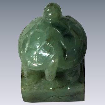 Jadeite Tortoise circa 1940's China