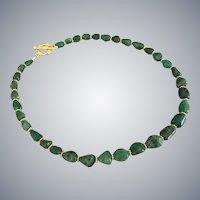 Emerald Nugget Bead Necklace