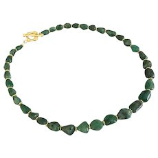 Emerald Nugget Bead Necklace