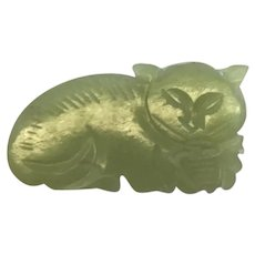 Antique Chinese Jade Cat