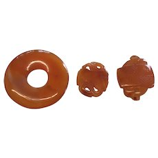 Antique Chinese Carnelian Carving Collection