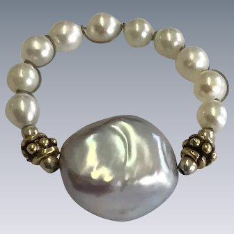 Renaissance Style Pearl Ring