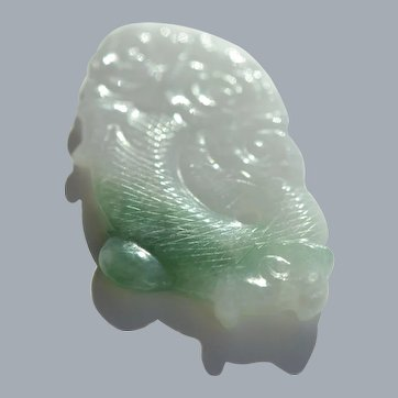 Moss in Snow Jadeite Dragon Carving