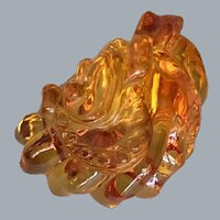 Amber Citron Carving