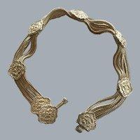 Sterling Silver Mongolian Bracelet