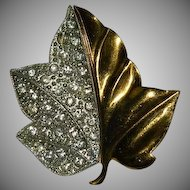 Beautiful Alfred Philippe for Trifari Maple Leaf Brooch ~ 1938
