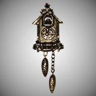 Sweet Vintage Avon Cuckoo Clock Pin