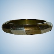 Impressive Mixed Metals Bangle ~ Brass, Silver Plate