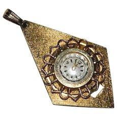1970 Jewelmont Ladies Pendant Watch 17 Jewels ~A