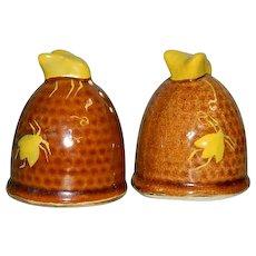 Fun Utah BeeHives Salt & Pepper Shakers complete w/corks