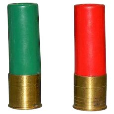 Rare! Shotgun Shells Bullets Salt & Pepper Shakers for Cabin ~ Hunters