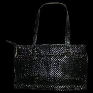 Chic Black Mesh Handbag Purse Metal Mesh