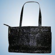 Chic Black Mesh Handbag Purse Metal Mesh
