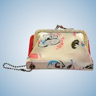 1950's Asian Themed Plastic Coin Purse Wallet