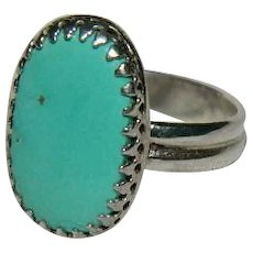 Lovely Sleeping Beauty Turquoise Ring sz 7