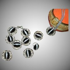Unforgettable Simulated Banded Agate Full Suite ~ Grand Parure