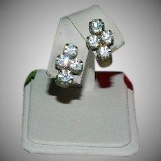 Edwardian Four Stone Paste Earrings