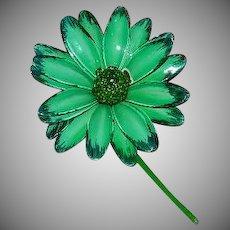 Pop Green Oversized Daisy Brooch Flower Power