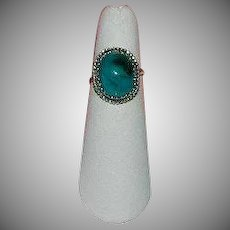 Rarest Morenci Turquoise Sterling Silver Ring sz 6