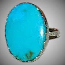 20Ct Morenci Turquoise Statement Ring sz 8