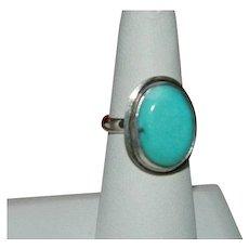 Beautiful Modern Design Campitos Turquoise Ring sz 7.5