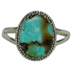 Breathtaking 75ct Spiderweb Turquoise Sterling Silver Cuff Bracelet