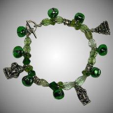 Fun Vintage Christmas Bells Charm Bracelet