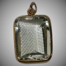 14K Gold Spinel Cushion Cut Pendant Victorian Period