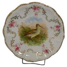 Bavarian Bird Plate Victorian Era