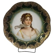Bavarian Queen Louise of Prussia Portrait Plate
