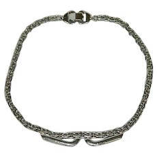 Delicious Sperry Silver Tone Chain Necklace Choker 14""