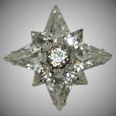 Amazing Eight 8 Pointed Star Rhinestone Pin