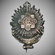Eucharistic Congress 1926 Metal Pin Silver