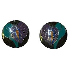 Antherium by Laurel Burch Pierced Earrings