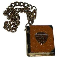 Boston Mass Book Photo Locket Charm Bracelet