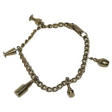 Fun Vintage Charm Bracelet ¬ Bowling, Chess and others