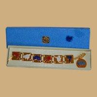 Rare Bates and Klinke United Nations Charm Bracelet in Original Box