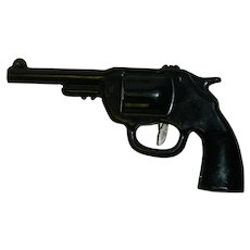 Black Metal Toy Revolver Pistol